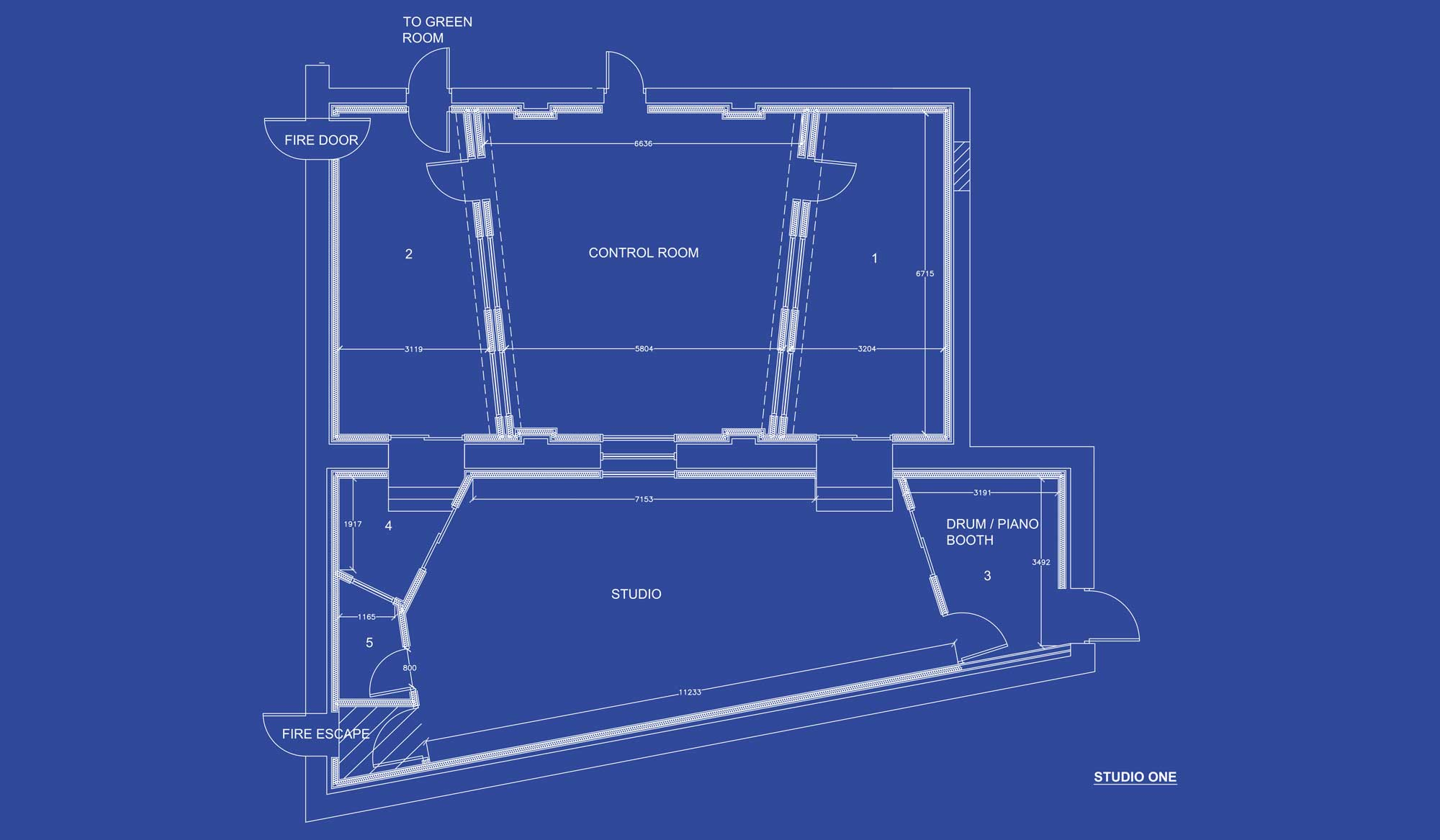 Gorbals Sound Studio 1 Blueprint